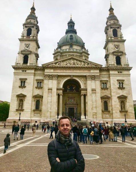 Fabio Haubert em Budapeste Hungria
